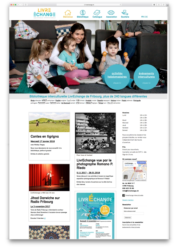 Library web design – Lucie Meier – Graphic Design